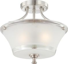 Nuvo Lighting 60/4528 Patrone Two Light Semi Flush Ceiling Fixture With Clear An contemporary-flush-mount-ceiling-lighting