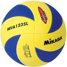 Mikasa MVA123SL Youth Training Indoor Volleyball, Blue/Yellow, Multicolor