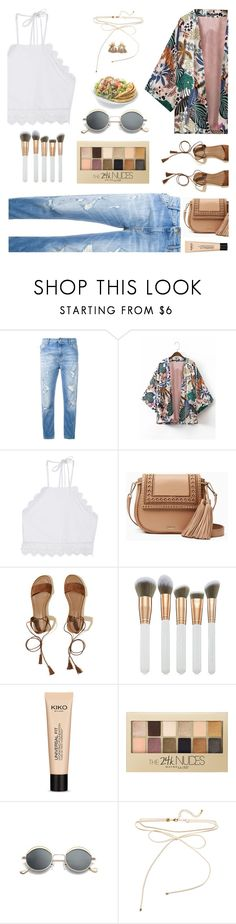 """Sin título #1538"" by solespejismo on Polyvore featuring moda, Love Moschino, WithChic, Front Row Shop, Kate Spade, Hollister Co., Spectrum, Universal, Maybelline y H&M"