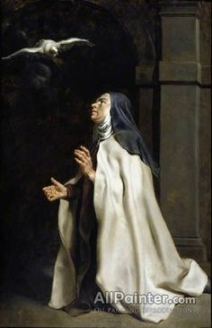Teresa of Avila's Vision of the Dove by Peter Paul Rubens The Fitzwilliam Museum Date painted: Peter Paul Rubens, Saint Teresa Of Avila, St Ignatius, Les Religions, St Therese, Catholic Saints, Catholic Art, Roman Catholic, Mother Teresa