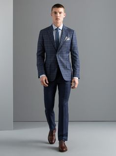 The New Blue Glen Plaid from J. Hilburn | Custom Menswear for Spring | Men's Fashion