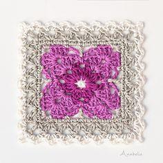 Ravelry: Crochet Square Motif pattern by Anabelia Handmade Crochet Quilt, Crochet Home, Crochet Motif, Crochet Yarn, Crochet Stitches, Ravelry Crochet, Crotchet Patterns, Granny Square Crochet Pattern, Afghan Crochet Patterns