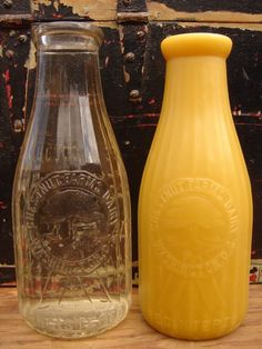 Wow! Beeswax Candles molded from vintage bottles!