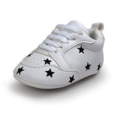 Kuner Newborn Baby Boys Girls Pu Leather Soft Bottom Non Slip Sneakers First Walkers Shoes 11cm06months White5 -- You can get additional details at the image link.Note:It is affiliate link to Amazon.
