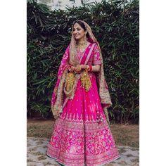 Pink Bridal Lehenga, Designer Bridal Lehenga, Pink Lehenga, Mehendi Outfits, Indian Bridal Outfits, Indian Bridal Fashion, Wedding Lehenga Designs, Wedding Lehnga, Wedding Dresses