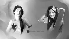 Female Face/Light Study by ~psdeluxe on deviantART
