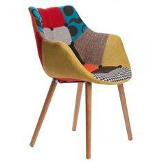 Krzesło tapicerowane Eleven Patchwork ZuiverKrzesło Eleven Pachwork jest wyjątkowo wygodne dzięki nowoczesnemu kształtowi.