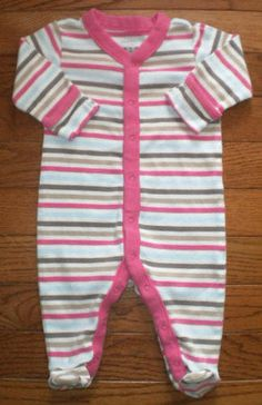 BABY infant GIRLS 0-3 mo OLD NAVY OUTFIT romper JUMPER footed UNION SUIT, sweet!