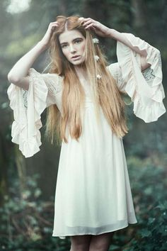 Ghostly Nymph Editorials - Emily Soto's 'Forest Child' Editorial Evokes an Ethereal Pixie-Like Feel (GALLERY)