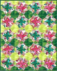 = free pattern = Florista quilt by Linda Fitch for Hoffman Fabrics