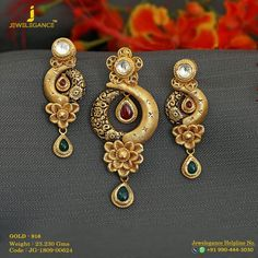 Jewelry OFF! Gold 916 Premium Design Get in touch with us on 919904443030 Gold Earrings Designs, Gold Jewellery Design, Gold Drop Earrings, Gold Jewelry, Gold Necklace, Small Necklace, Necklaces, Bridal Jewellery, Fashion Jewellery