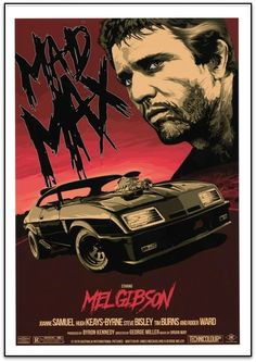 MAD MAX - Rhys Cooper Limited Edition of 250 Gicleee print on uncoated stock. Size: 20 X 28 inch – 500 X 700 mm Man Cave Posters, Cool Posters, Film Posters, Mad Max Tattoo, Mad Max Poster, Mad Max Mel Gibson, Rhys Cooper, Mad Max Road, Apocalyptic Movies
