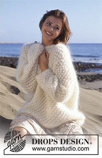 Neige - Pull tricoté au point d'astrakan en DROPS Vienna ou DROPS Melody - Free pattern by DROPS Design