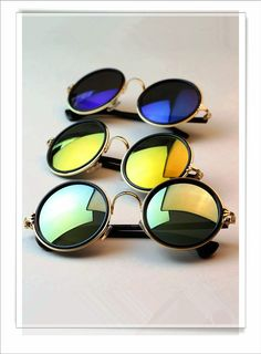 853e02ddcc Buy 2014 Fashion Women Men Round Retro Metal Glasses Sunglasses Colorful  Eyewear Shades Classic Star Style Wholesale Price Gift vintage oculos gafas  de sol ...