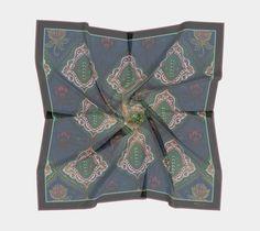 Blooms of Pythia, designer scarf, scarves, pocket squares