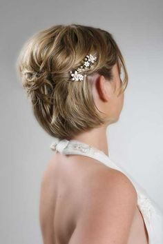 Short Simple Hairstyles for Brides