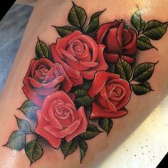 neo traditional flower tattoo - Google Search