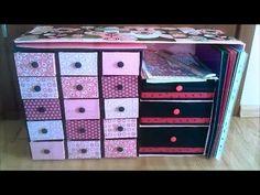 Cajonera Organizador de Cartón Multiusos - DecoAndCrafts - YouTube