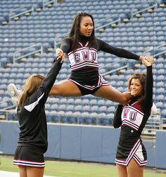 cheerleading stunting Gallery For > 3 Person Cheer Stunts Cheer Bow Easy Cheer Stunts, Cheer Moves, Cheer Routines, Cheerleading Photos, Cheer Workouts, Cheer Camp, Cheer Coaches, Cheer Dance, Cheerleading Stunting