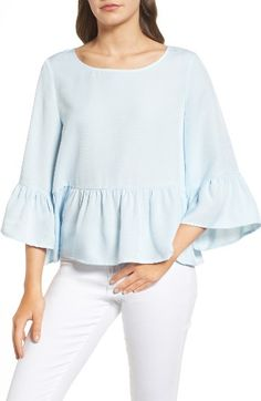 Free shipping and returns on Chelsea28 Ruffle Sleeve Blouse at Nordstrom.com. Everybody needs a touch of sweetness in their weekday wardrobe. This lightweight top delivers low-key romance by way of ruffled bell sleeves and an ever-so-delicate peplum hem.