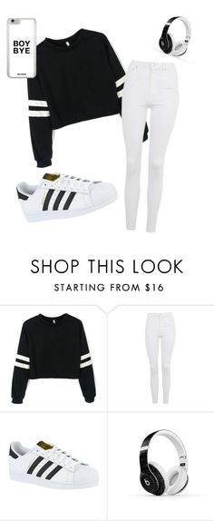 """Untitled #73"" by amaya99 ❤ liked on Polyvore featuring Topshop, adidas and Beats by Dr. Dre"