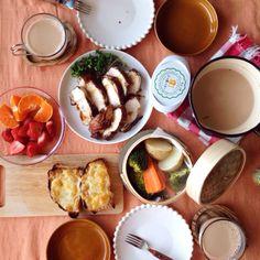 朝ごはん breakfast