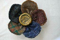 handmade Irish tweed tartan jacket pin - boho mustard brown blue wool brooch new Felted Wool, Wool Felt, Jewelry Ideas, Diy Jewelry, Jacket Pins, Wool Cape, Brooches Handmade, Blue Wool, Looking Stunning