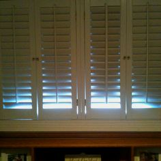 We had a carpenter create a fake shuttered window with lighting from Ikea installed inside . There are several modes of lighting to choose from-- to make it look like a sunrise, sunset-- or holiday .