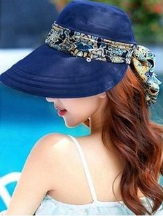 """One of today's 4 NEW DEALS.    FREE!!  Foldable Large Brim Hat """"HILTON"""" in 11 colors!! You only pay for shipping.    Only while stocks last."""