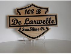 De Larwelle Classic Motorcycle Logo