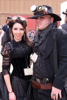 Look she's smiling!  | Follow https://www.pinterest.com/thevioletvixen/i-love-steampunk/ if you're a Steampunk Lover!