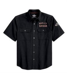 69f1a5fe2573 harley-davidson-men-s-winged-performance-woven-shirt-99095-13vm
