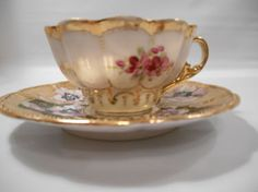 Hand-Painted Antique Oriental Tea Cups | Antique Store, Vintage ...