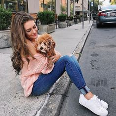 My little babe 🐶 turns 1 in a couple of days! 🎂🎉 I'm so obsessed with her, I'm a little worried about how I'm going to be with an actual child 😅 Outfit details: http://liketk.it/2sonK #liketkit #ltkunder50 #adidas #adidassuperstar #wiw #whatimwearing #ootd #winniethedoodle #happymonday #monday #teacupgoldendoodle    #Regram via @cmcoving