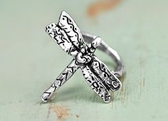 Dragonfly Ring - Inspirational Jewelry -Dragonfly Jewelry - Handmade Jewelry. $42.00, via Etsy.