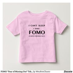 "FOMO ""Fear of Missing Out"" Tshirt #fomo #babyclothes"