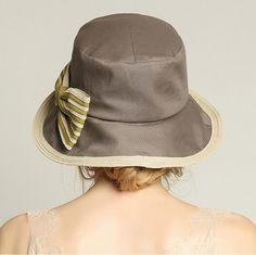 84bd8e4abbc Striped bow sun hats for women UV bucket hat summer wear