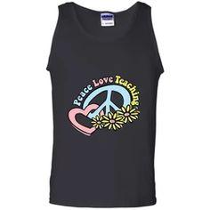 Hippie Tank Top | Flower Children | Be Hippie Be Free Flower Children, Hippie Shirt, Teacher Retirement, Ash Grey, Black Tank Tops, Heart Shapes, Digital Prints, Size Chart, Heather Grey