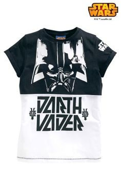 Buy Black/White Darth Vader Tee (3-14yrs) from the Next UK online shop