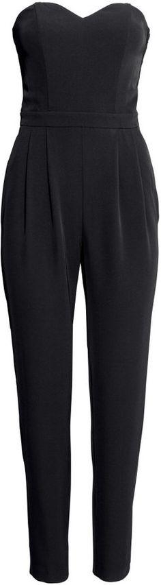 H&M Strapless Jumpsuit - Natural white - Ladies on shopstyle.com