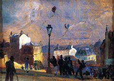 'Flying Kites, Montmartre' (study) William James Glackens, 1906