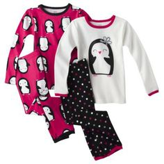 JUST ONE YOU® Made by Carters® Infant Toddler Girls' 4-Piece Tight Fit Sleep Set