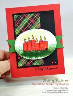 Stampin' Up! exclusive Merry Patterns card by Dawn Olchefske for DOstamperSTARS Thursday Challenge #DSC247 #dostamping #stampinup #handmade #cardmaking #stamping #diy #merrypatterns #christmasaroundtheworlddsp