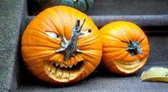 20 idées originales et hilarantes pour décorer vos citrouilles à l'Halloween!