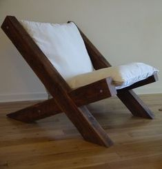 Barn Wood Lounge Chair by TicinoDesign on Etsy, $890.00