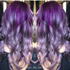 Gorgeous Purple to Silver Lavender  color melt by @jeni_does_ham pastel purple hair color #hotonbeauty