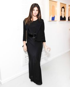 Style Set: The Week& Best Dressed: At the Feed and Clarins Faces of Change opening night celebration, Julia Restoin Roitfeld smoldered in a black column. Julia Restoin Roitfeld, Carine Roitfeld, Modest Outfits, Modest Fashion, Celebrity Dresses, Celebrity Style, Modest Black Dress, Celebs, Celebrities