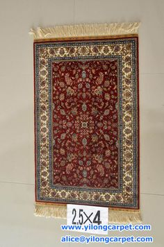 We supply hand knotted silk rugs&carpet.Please contact us when you need. www.yilongcarpet.com alice@ yilongcarpet.com WhatsApp & Viber :0086 15638927921 2.5*4 ft - (76*122) cm