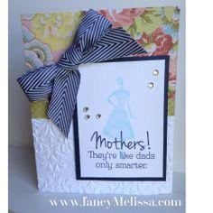 Mother's Day Card www.fancymelissa.com/blog #ctmh #ariana #damask #embossingfolder