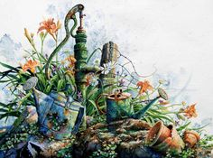 Still Life Garden Paintings And Prints By Hanne Lore Koehler